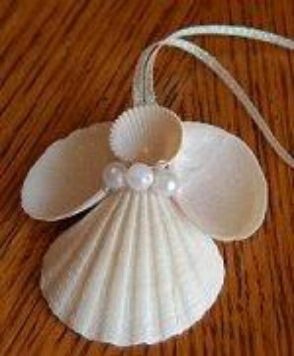 Pearl prettiness on pin interest for Seashell ornament ideas