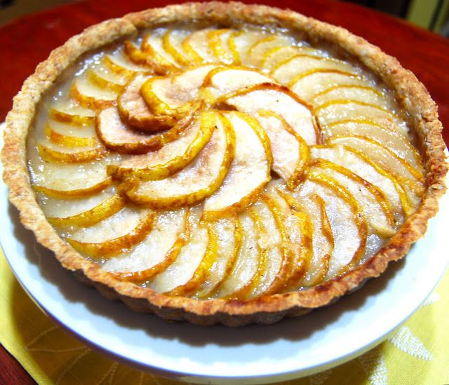 Pear And Almond Tart - Holy Cow! Vegan Recipes
