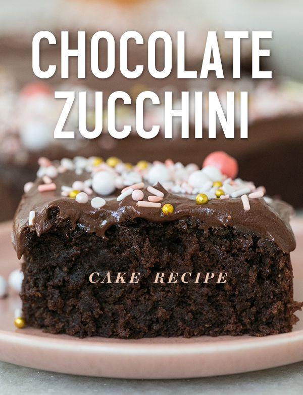 Chocolate Zucchini Cake Recipe Zucchini Cake Recipes Chocolate
