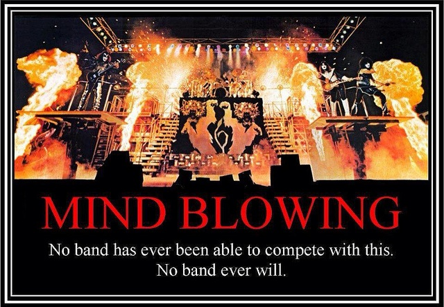 No band has ever been able to compete with this. No band ever will. KISS