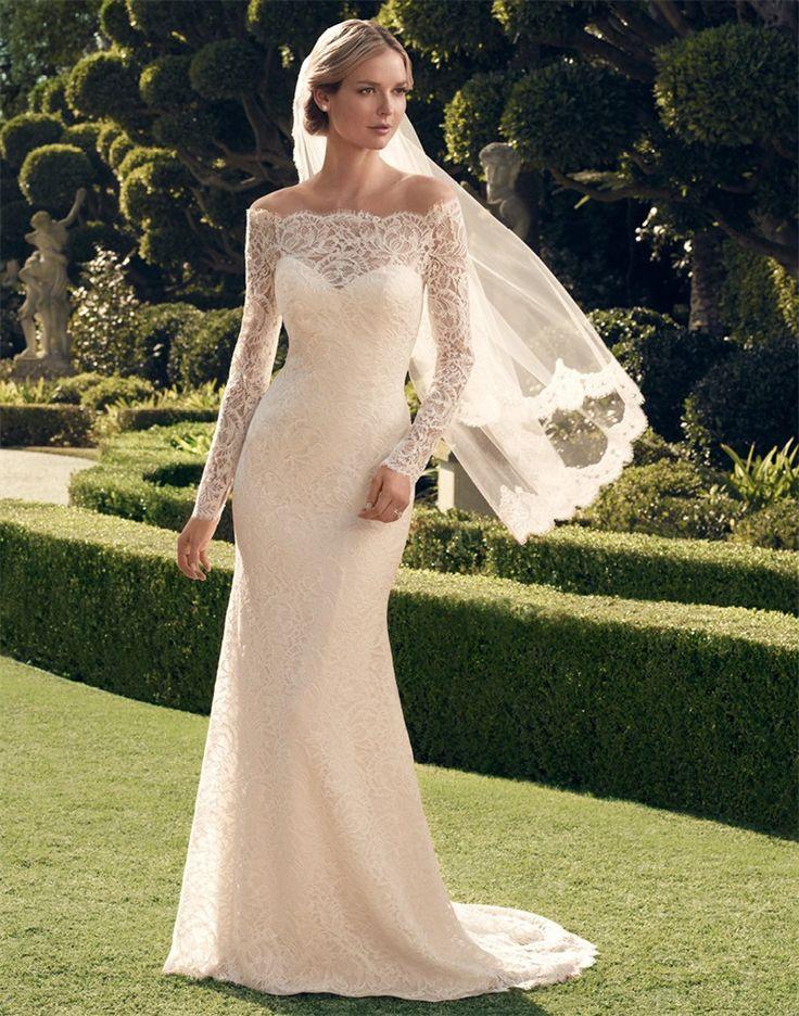 vestidos de novia manga larga encaje - Buscar con Google