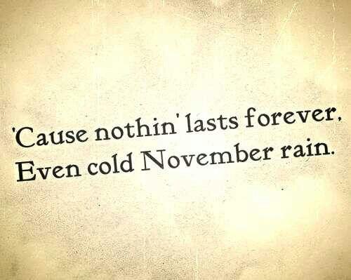 -November Rain, Guns n Roses ♥
