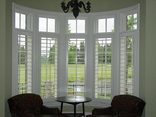 I D Make This A Breakfast Nook Love The Bay Window With Plantation Shutters
