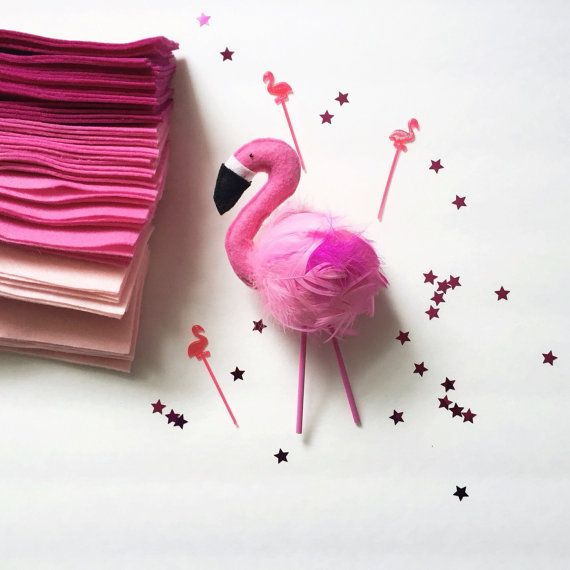 Flamingo Cake Topper  Frankie by ForagePhotoAndDesign on Etsy