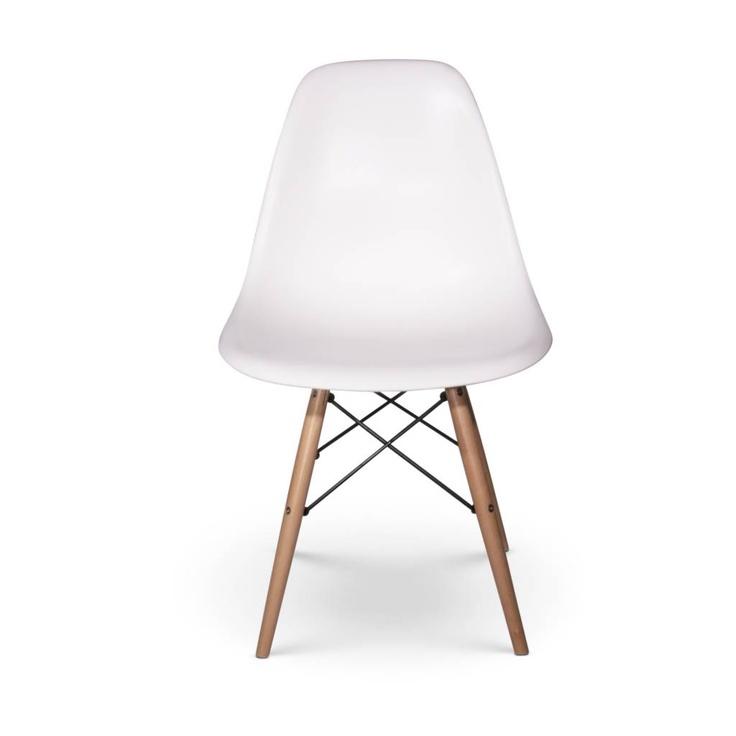 Eetkamerstoelen Designstoel DSW plastic wit