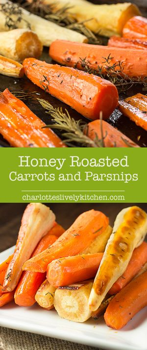 Honey roasted carrots and parsnips with rosemary and thyme - easy to prepare and delicious to eat. The perfect accompaniment to your roast dinner.