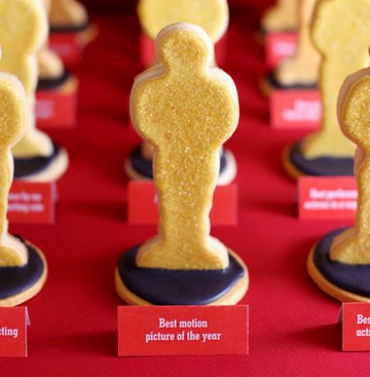 Academy Awards Party Prep: Golden Oscar Statue Cookies