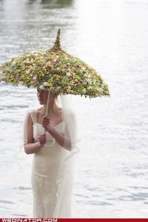 Is deze parapluie nu ook het trouwboeket?