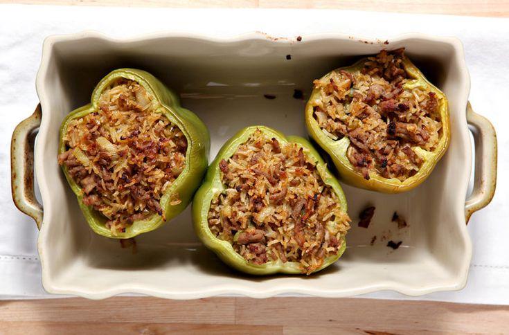 Изображение рецепта Фаршированные перцы с индейкой и овощами