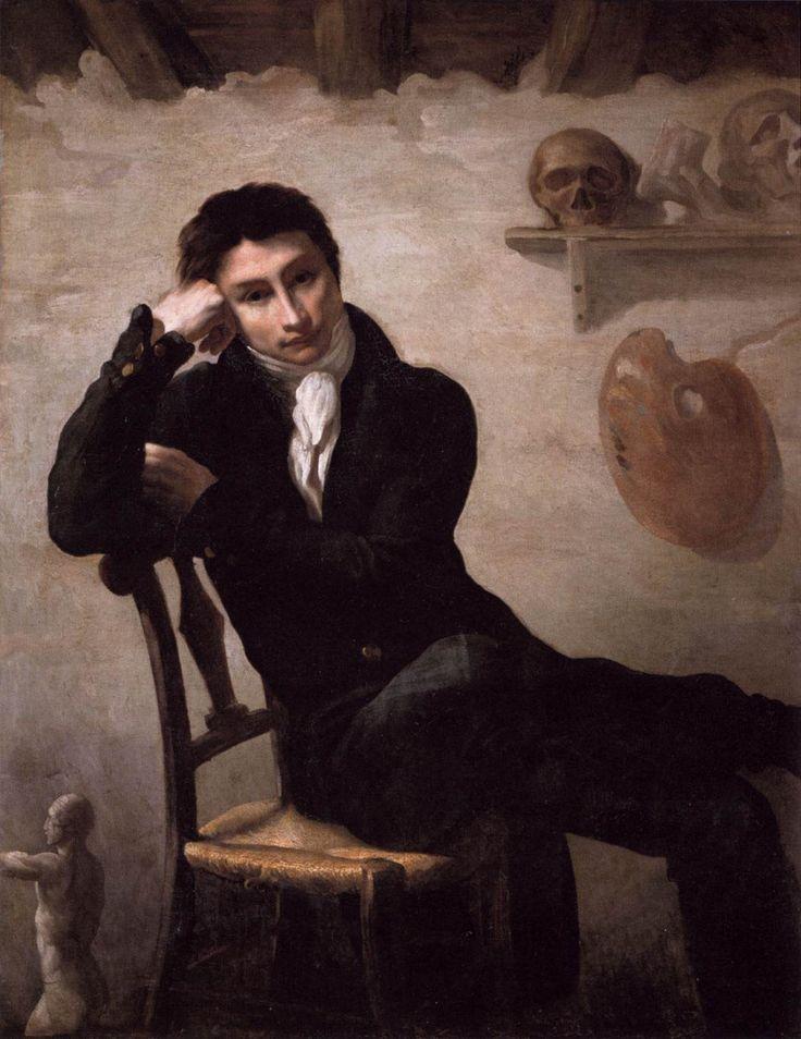 테오도르 제리코의 자화상 / 19세기 프랑스의 대표적인 화가로 낭만주의 회화의 창시자로 평가받는 테오도르 제리코의 자화상이다. 그의 대작 '메두사호의 뗏목'은 들라크루아를 감격시키며 낭만주의 확립의 도화선이 되었다. / 뚜렷하지 않은 선과 윤곽, 이전의 틀에 박힌 자화상들과는 다른 포즈 및 배경 등으로 같은 유화작품임에도 이전의 다른 미술사조의 자화상과는 매우 다른 느낌을 주는 작품이다. 제리코는 33세의 젊은 나이에 세상을 떠났기에 그의 몇 안되는 자화상만으로 그의 심리상태를 파악하기에는 어려움이 있다.