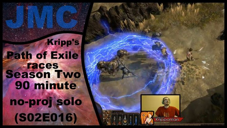 Kripp's Path of Exile races - Season Two, 90 Minute No-Proj Solo (S02E016)