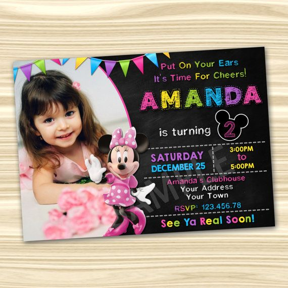 Minnie Invitation. Minnie Mouse Invitation. by KidsPartyBoutique