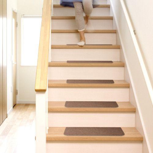 ◎洗える吸着階段マット45cm×20cm15枚入