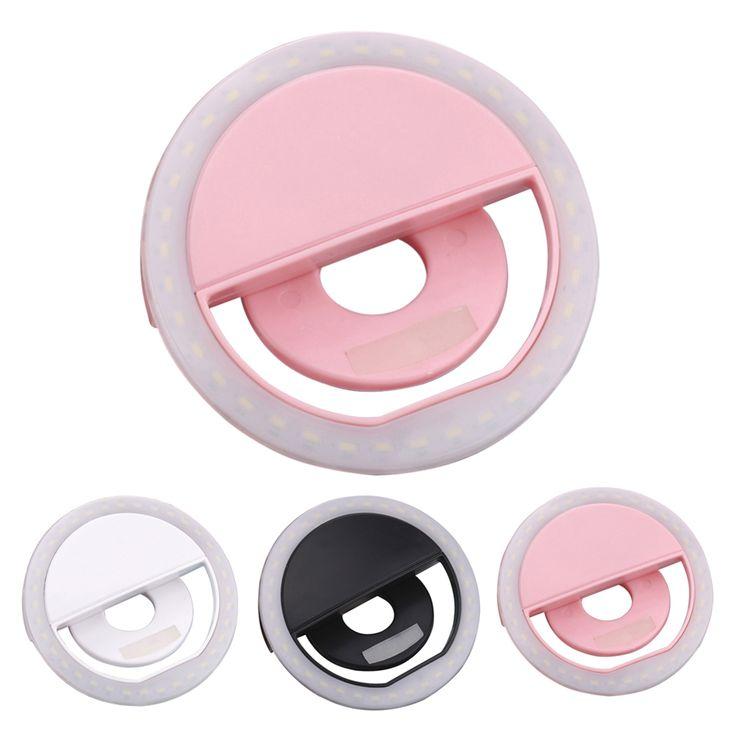 Mini clip-on 36 led cincin cahaya fill-in light lampu 3 mode selfie selfie ponsel cincin lampu untuk smartphone l3fe