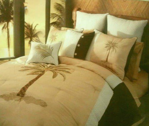 Hallmart Collectibles Bedding Grand Palm Trees King Tropical Island