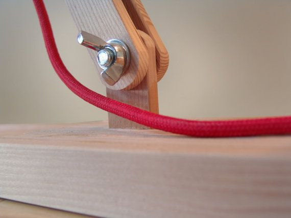 Table Lamp with Colored Fabric Cords. ON SALE by GaganDesign