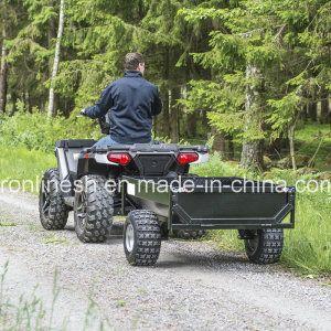 Black Power Coating Tread Plate 500kgs Versatile Tipping Farm Trailer/Box Trailer/Single Axle Trailer/Garden Trailer/Yard Trailer for Quads/ATV/Small Tractors - China Farm Trailer, Box Trailer | Made-in-China.com Mobile
