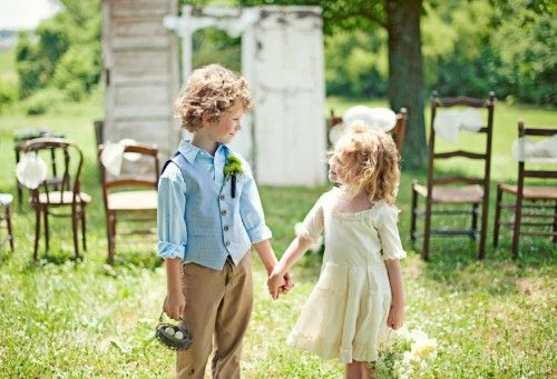 Ring bearer and Flower girl idea
