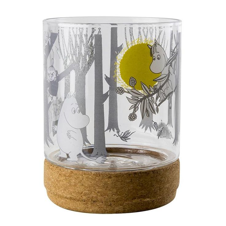 Moomin Forest glass lantern / jar by Muurla - The Official Moomin Shop