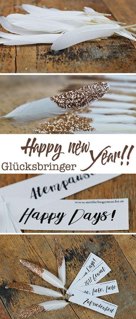 Glücksbringer selber basteln - süße Geschenkidee für Neujahr! Verleiht euren Wünschen Flügeln!