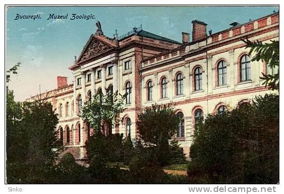 Bucuresti - Muzeul Antipa - interbelica