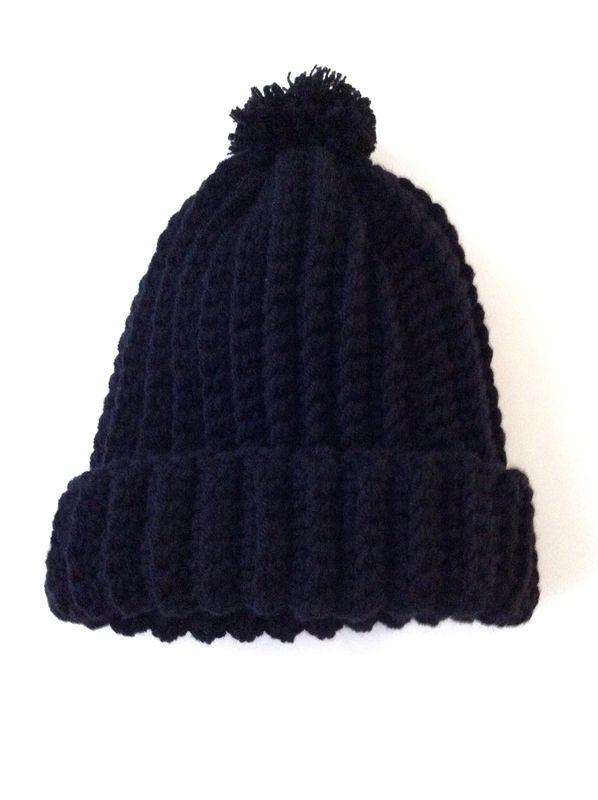 B comme... Bonnet modèle crochet gratuit en francais, tuto, french free pattern, ribbed beanie