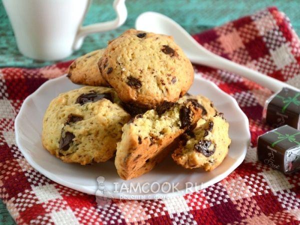 Фото американского печенья с шоколадом (с кусочками шоколада)