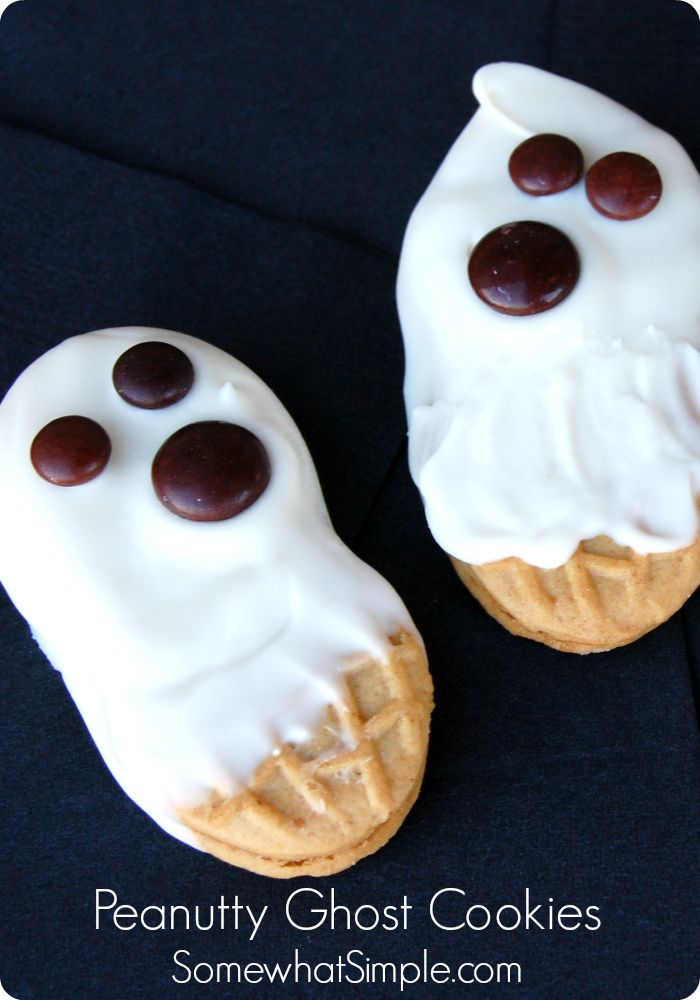 sunglass warehouse ghost cookies  A fun halloween treat idea