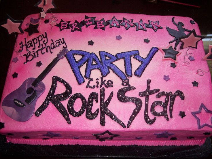 25 Best Ideas About Rock Star Cakes On Pinterest