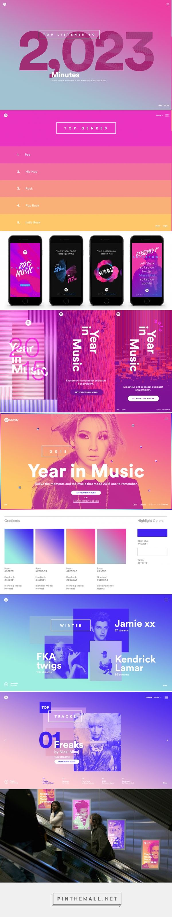 How Stinkdigital created Spotify's Year in Music - Creative Review... - a grouped images picture - Pin Them All