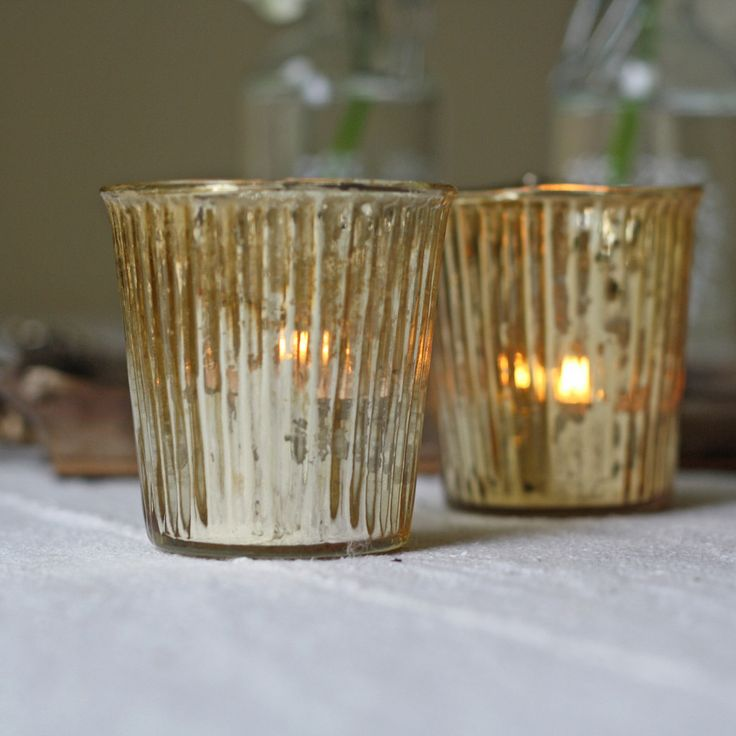 gold tea light holders - I have approx 35 of these