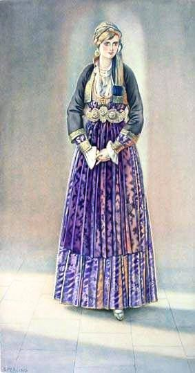 Macedonian Clothes:  Greek Peasant #Woman's #Dress (#Macedonia, Naoussa) northern #Greece