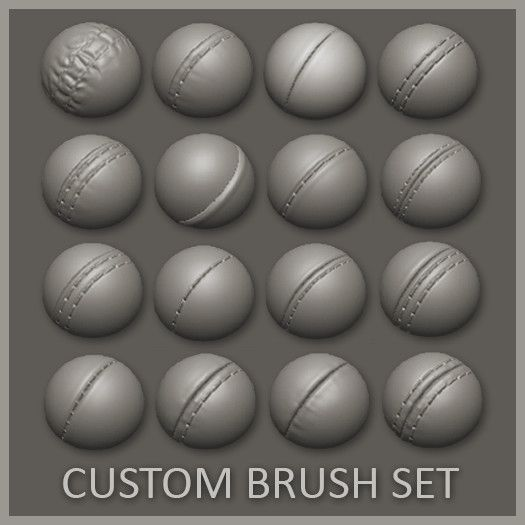 16 Custom Seam/Stitch brushes for zBrush, Daniel Palmi on ArtStation at https://www.artstation.com/artwork/Lgvvl