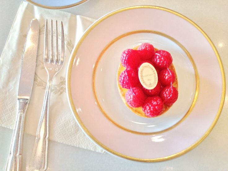 Laduree cake. Passion fruit and framboise. Paris tea party