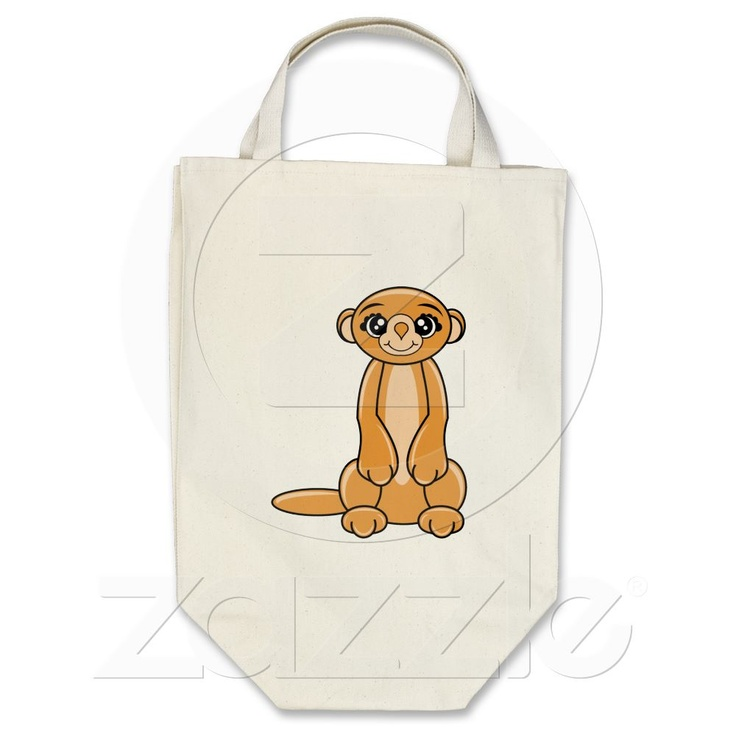 Organic Manny the meerkat designs tote bag by Cheetahs Graphics