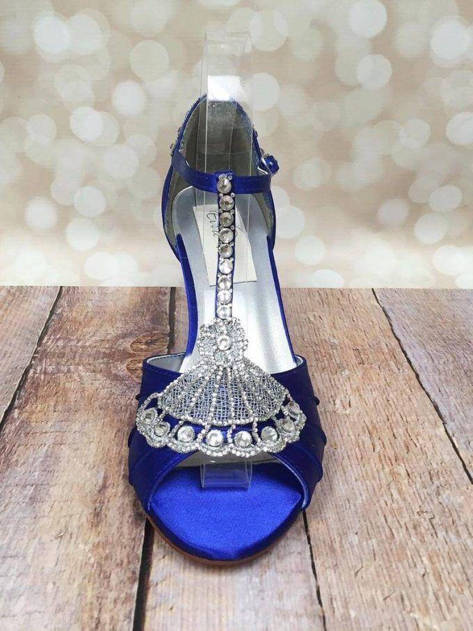14 Smokin Hot Wide Width Wedding Shoes For Bride Emmaline Bride Blue Bridal Heels Blue Wedding Shoes Custom Wedding Shoes