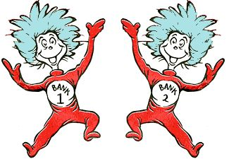 Thing 1 and Thing 2, relabeled Bank 1 and Bank 21 | Cakes ...