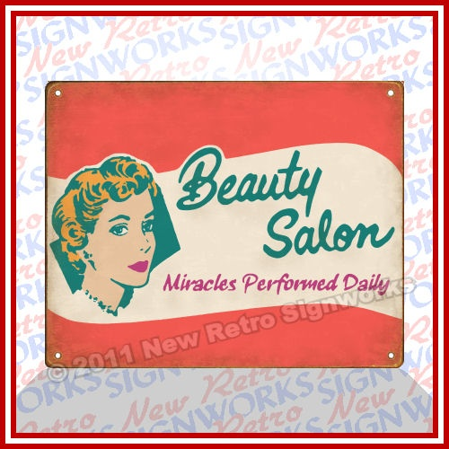 Vintage Hair Salon Signs | Beauty Salon Sign Funny Vanity Perm Hairdressing Hair | eBay