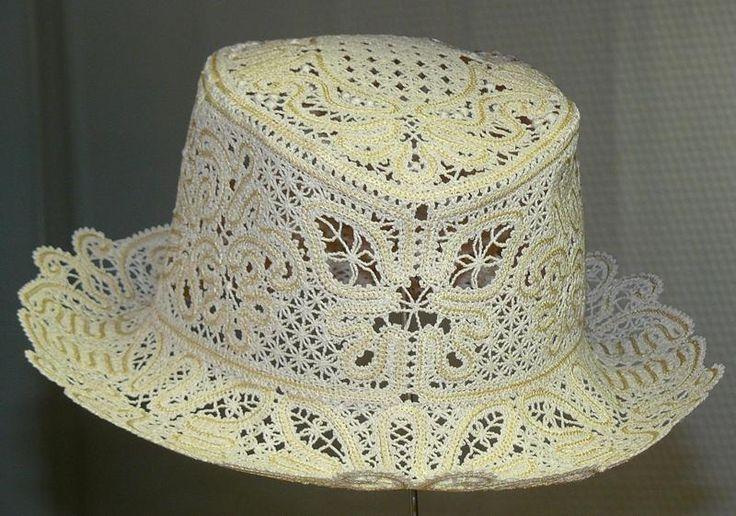 Advanced Embroidery Designs - FSL Battenberg Lace Summer Hat II