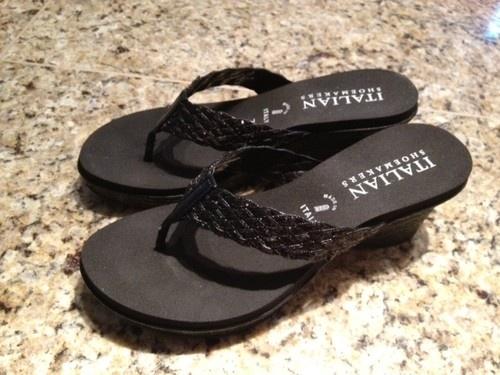 Black Italian Shoemaker Dress Sandal $20 size 7: Summer Sandals, Black Italian, Italian Shoemaker, Shoemaker Dress, 20 Size, Sandal 20