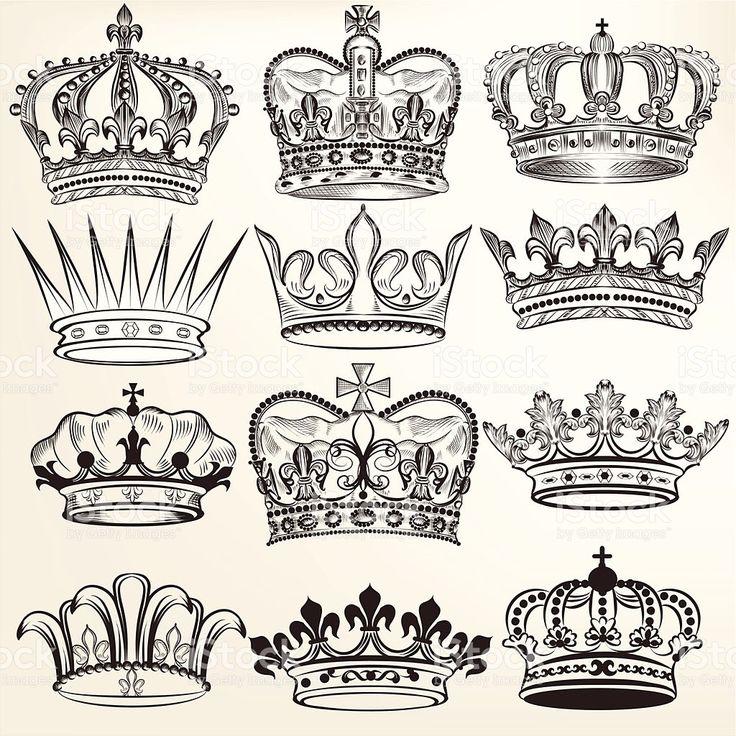 Coleção de vetor de design de heraldic royal Coroas vetor e ilustração royalty-free royalty-free
