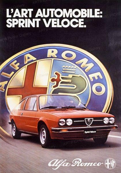 Artifiche: Poster: Alfa Romeo - L'Art Automobile: Sprint Veloce ...