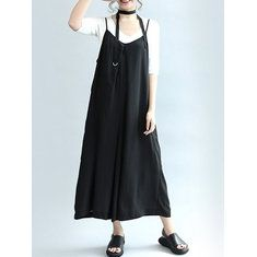 Only US$21.69 , shop O-NEWE Women Loose Dot Spaghetti Strap Jumpsuits at Banggood.com. Buy fashion Jumpsuits & Playsuits online.