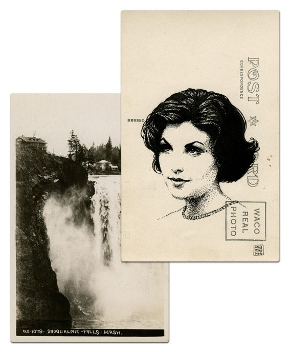 /// Audrey Horne postcard by Paul Willoughby.  From In the Trees: Twin Peaks 20th Anniversary Art Exhibition