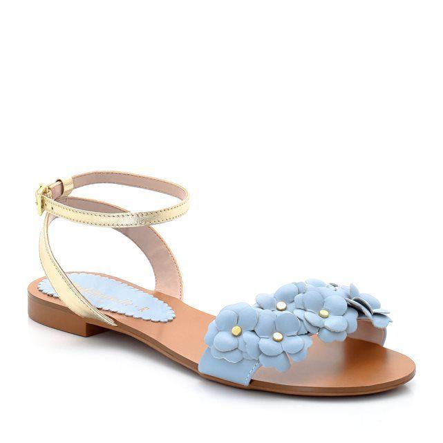 Sandales cuir à fleurs MADEMOISELLE R