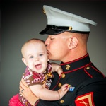 HeartsApart.org provides our soon-to-be deployed servicemen and women with pictures of their spouses and children. The photographs are printed on waterproof and durable bi-folded cards, which fit securely in their uniform pocket.