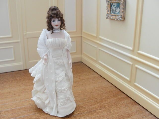 """Jacqueline Polier - porcelian fighure """"Lady in White""""; sold on ebay for $239"""