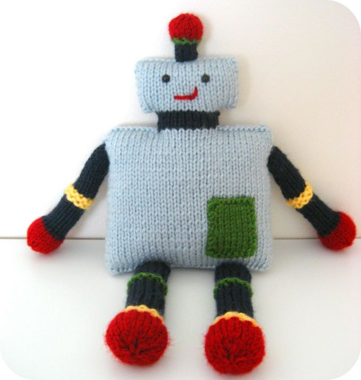 Knit Toy Robot Pattern