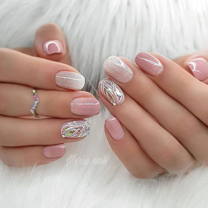 Sweet pastel colors and glitter for your holiday nails design – Nägel
