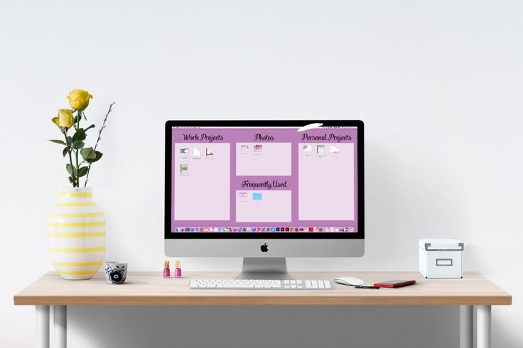 How to create a graphic to organize your computer desktop in under ten ...